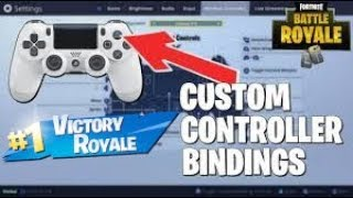 These are my custom controller bindings on fortnite battle royale
