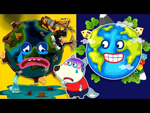Yes Yes Save the Earth & Learns Good Habits for Kids with Wolfoo | Wolfoo Family Kids Cartoon