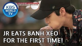 JR eats banh xeo for the first time! [Battle Trip/2018.10.07]