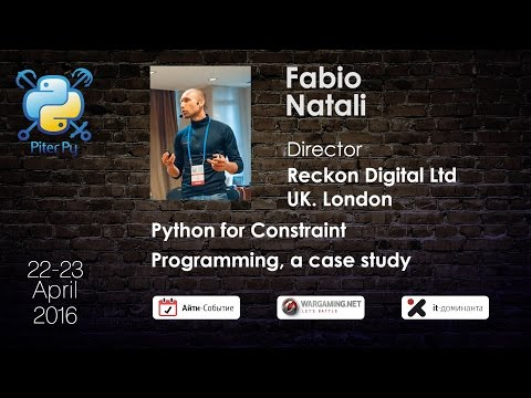 "Fabio Natali: ""Python for Constraint Programming, a case study"""