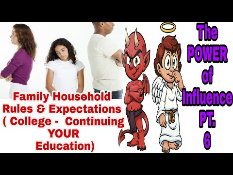 The Power of Influence 6 - Family Household Rules and Expectations ( College - Continuing Education)