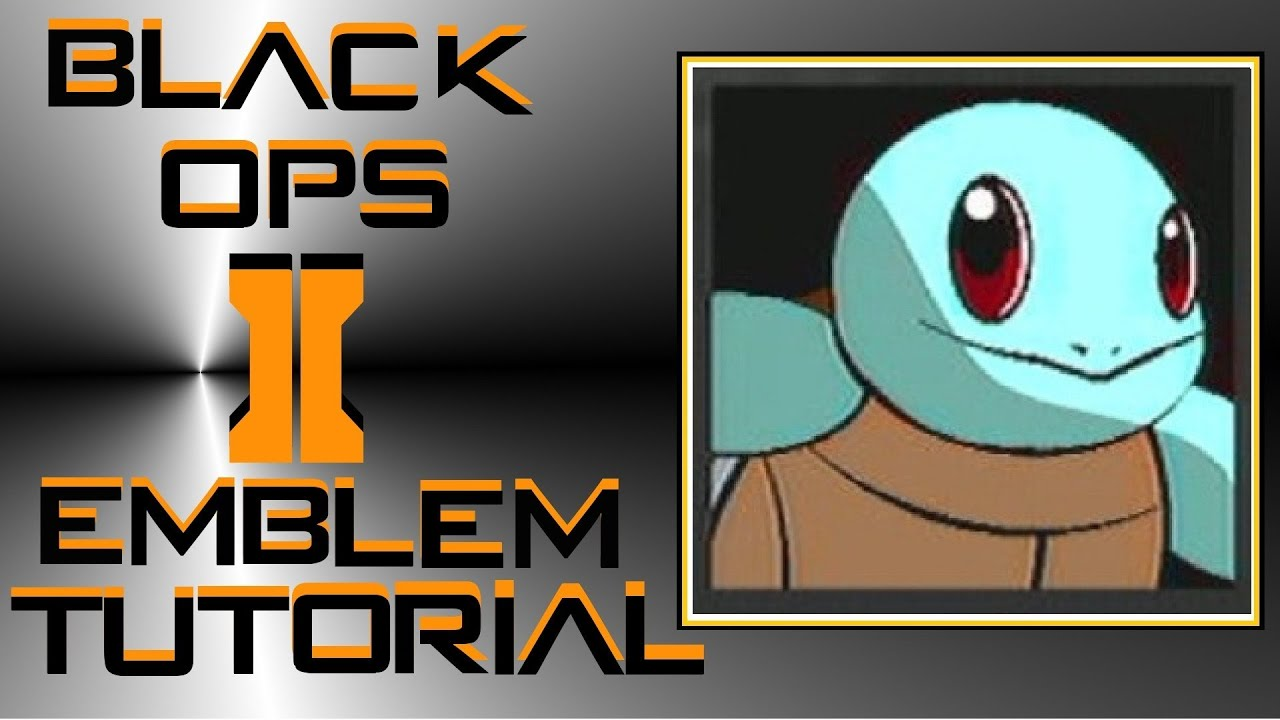 How to make a squirtle emblem bo2
