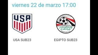 22/03/2019 Pinatar Football SUB23: USA - EGYTP