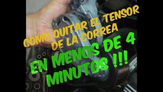 Como quitar el tensor de la correa en menos de 4 MINUTOS !! Motor BNM