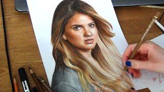 Drawing Shelley Hennig / Malia from Teen Wolf