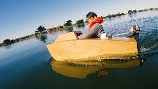 Testing a Laser-Cut Mini Boat!