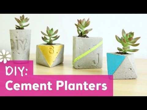 DIY Cement Planters | DIY Wedding | Sea Lemon
