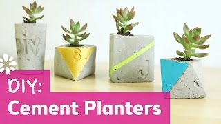 DIY Cement Planters | DIY Wedding