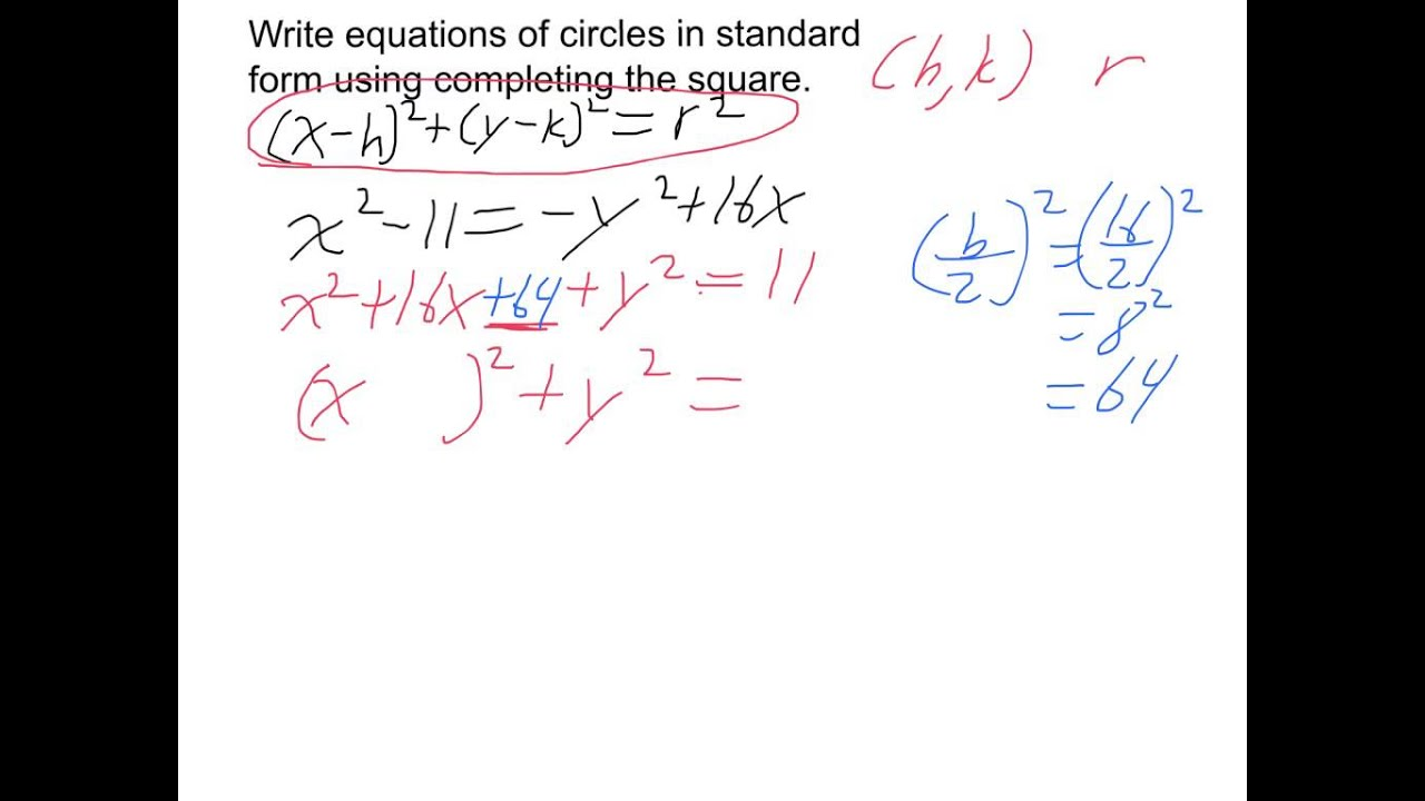 Convert equations of circles from general to standard form youtube convert equations of circles from general to standard form falaconquin