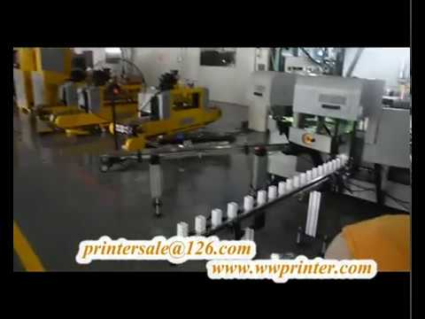 Square Cosmetic Cup 4 Sides Screen Printing Machine CNC04