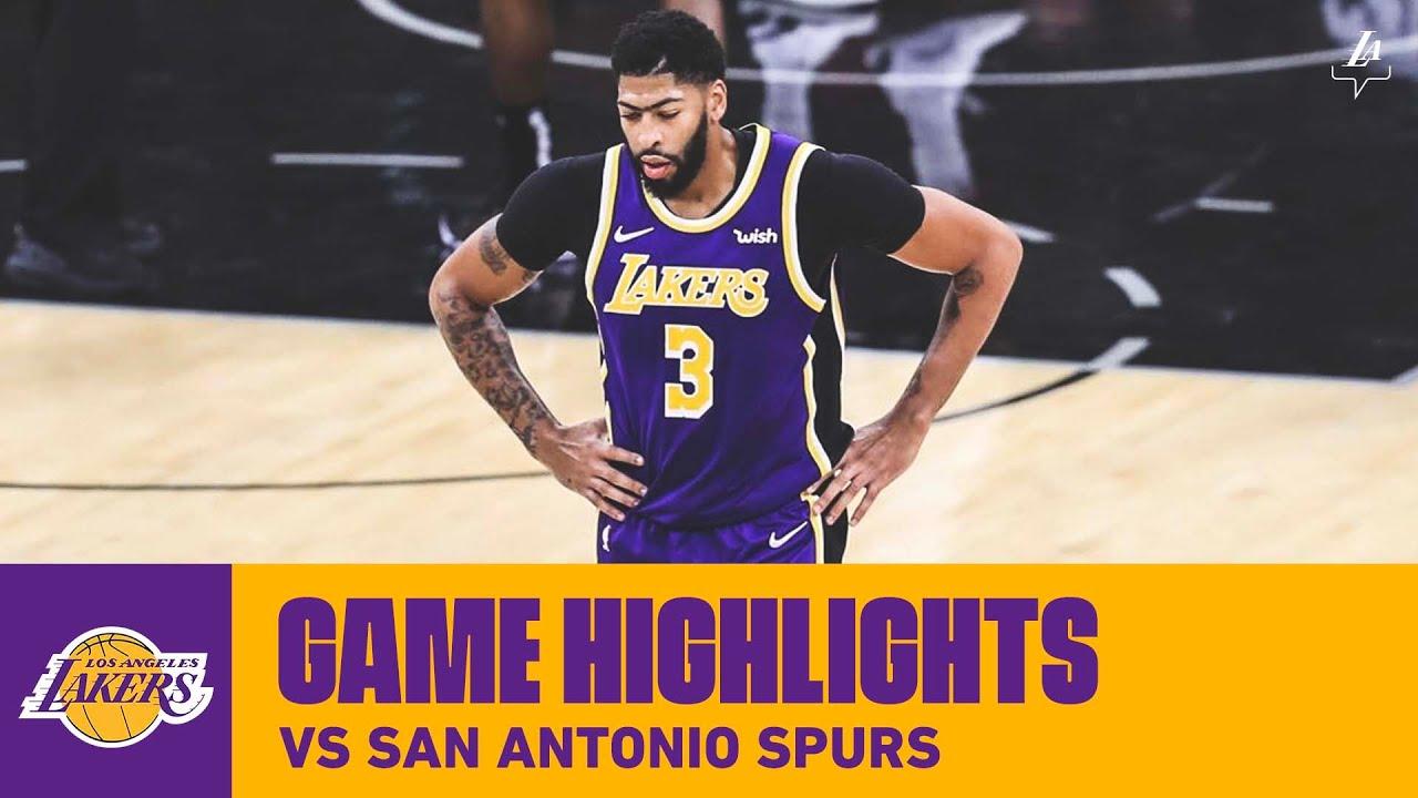 HIGHLIGHTS | Los Angeles Lakers vs. San Antonio Spurs (11 ...