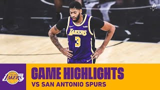 HIGHLIGHTS | Los Angeles Lakers vs. San Antonio Spurs (11/3/19) | Lakers