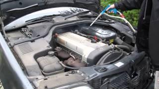 Czyszczenie silnika suchym lodem KlasykaGatunku.pl mycie Mercedes Youngtimer dry ice engine cleaning