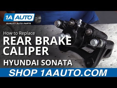 How to Replace Rear Brake Caliper 10-14 Hyundai Sonata