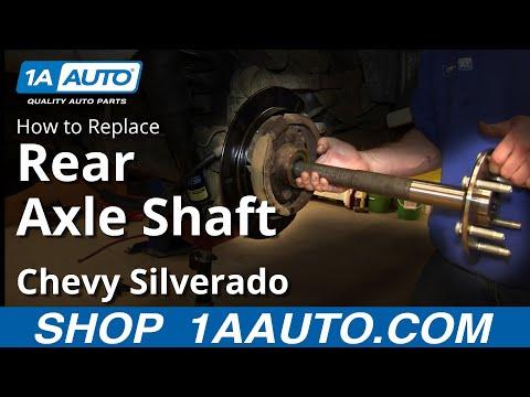 How To install Replace rear Axle 2000-06 Chevy Suburban Silverado GMC Yukon Sierra