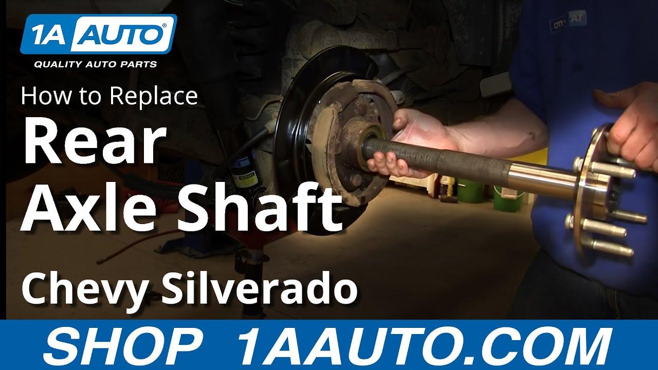 How To install Replace rear Axle 200006 Chevy Suburban Silverado GMC Yukon Sierra  YouTube