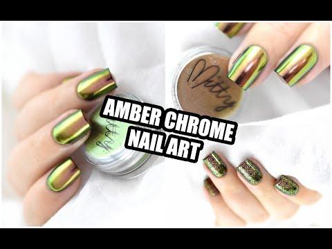 How To: Chrome Nail Art ft Mitty Amber Powder || Marine Loves Polish