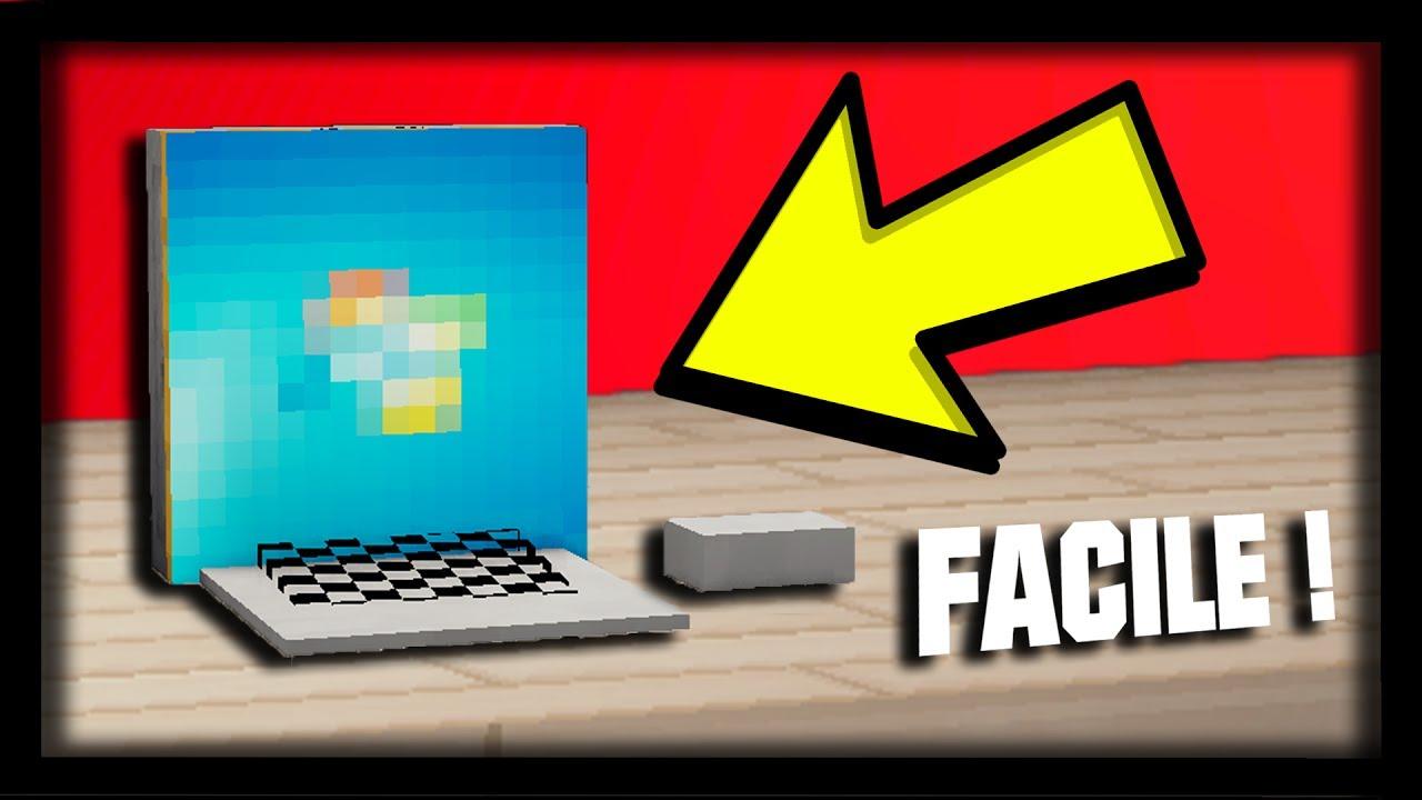 comment faire un ordinateur portable ultra r aliste dans minecraft tuto build youtube. Black Bedroom Furniture Sets. Home Design Ideas