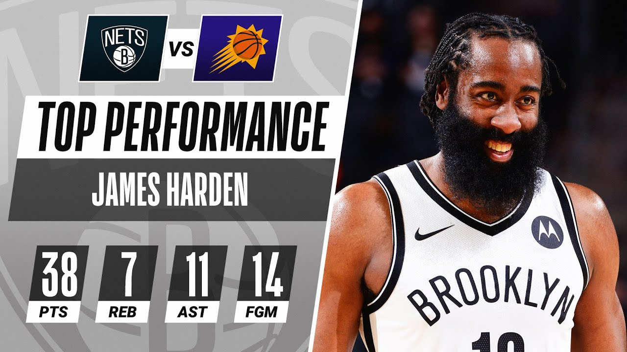 Harden's 38 PTS, 7 REB, 11 AST & Go-Ahead Three Helps The Nets Storm Back From 24 Down!