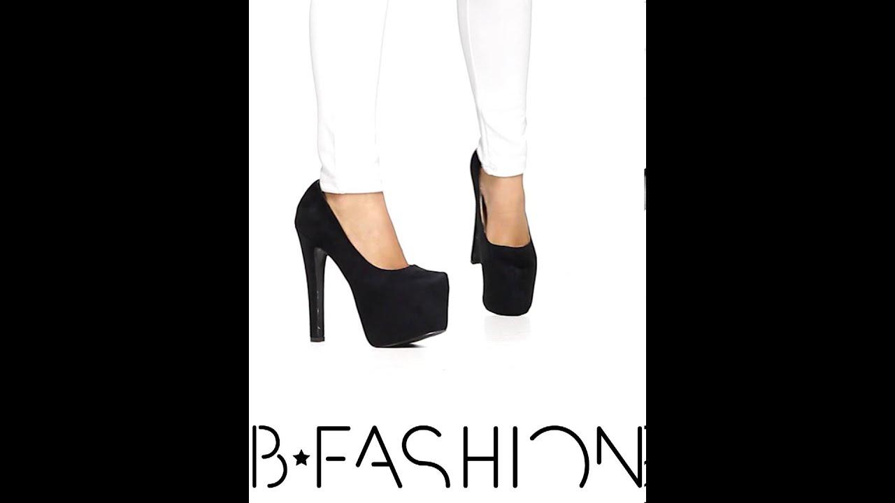 007b7887ed0 Велурени дамски обувки на висок ток и платформа от Кокетна - YouTube