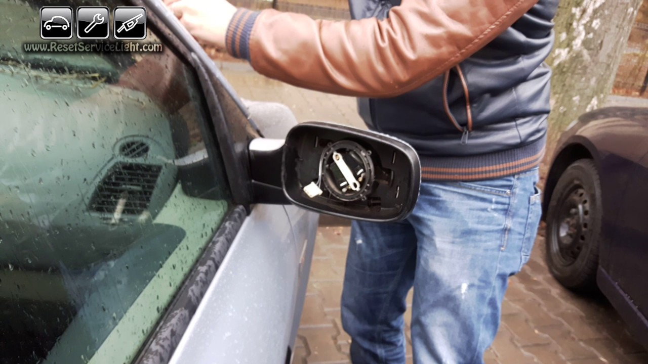 Replace mirror glass, cover and frame Volkswagen T5 Transporter