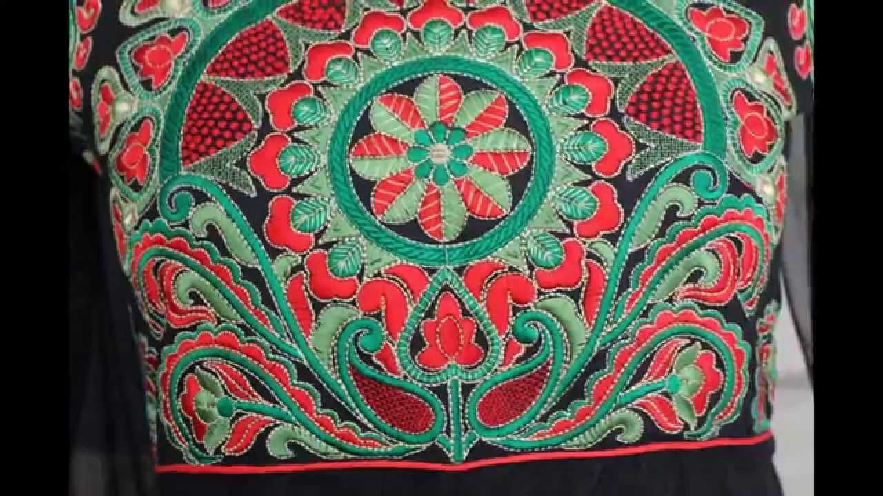 Blouse designs with heavy embroidery handwork youtube
