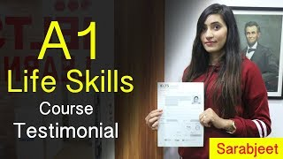 A1 Life Skills Course  in Chandigarh - Sarabjeet Kaur  Testimonial at IELTS Learning
