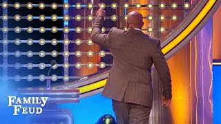 Steve Harvey WALKS OFF the set! | Family Feud