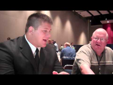 James Ferentz one-on-one at B1G Media Days, 7-27-12