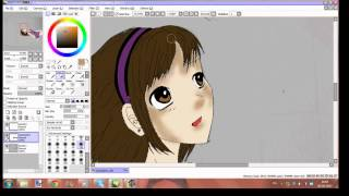 how to edit Violet in paint tool sai- anime