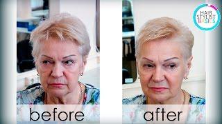 haircut for adult women (Стрижка для женщин в возрасте) tutorial 24