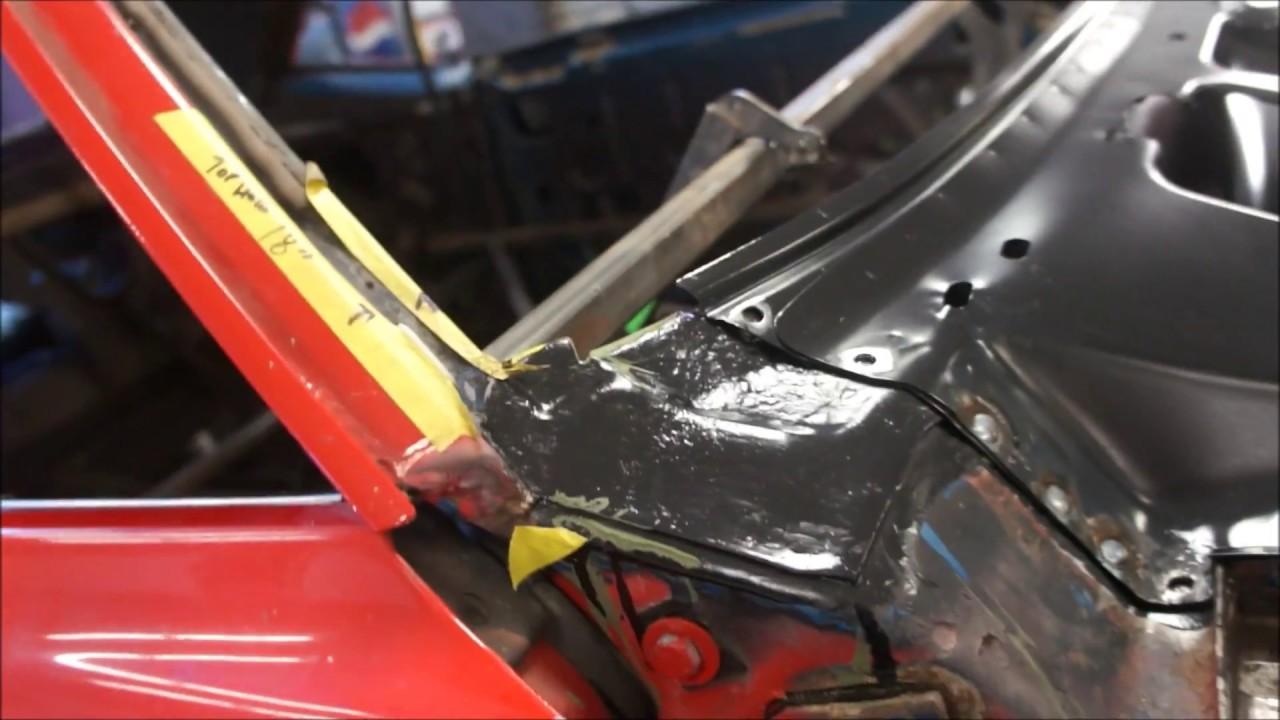 hight resolution of 1968 camaro cowl panel installed