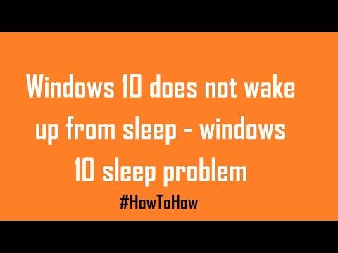 How To Fix Windows 10 Sleep Problem Windows 10 Does Not Wakeup From Sleep Youtube