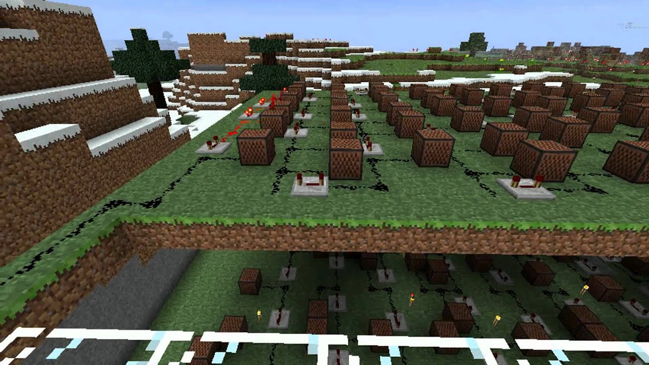 how to make a note block song in minecraft pe