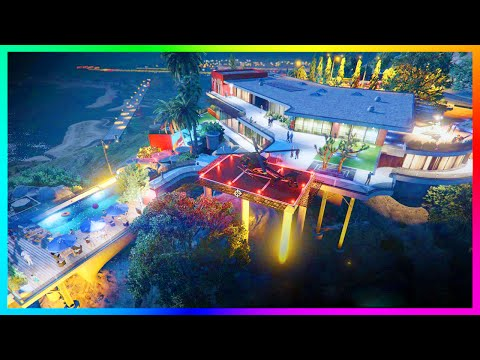EXPLORING $100,000,000 WORTH OF GTA 5 MANSIONS, MEGA PENTHOUSES, VILLAS & MORE! (MODS)
