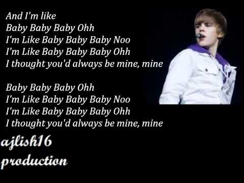 Justin Bieber ~ Baby (Acoustic) Lyrics