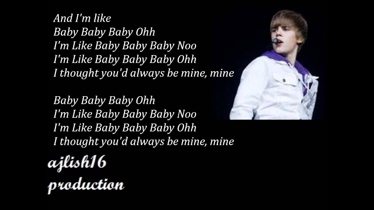 Justin bieber songs lyrics video