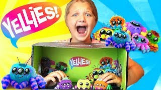 WHAT ARE YELLIES? CREEPY Electronic Spider Toys Surprise For Kids!