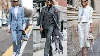 ЖЕНСКИЕ КОСТЮМЫ 2017 Фото Новинки Тренды. Модные Брючные Костюмы Fashion Trends 2017 Suit LOOKBOOK