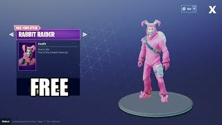 Fortnite Mobile Royale - HOW TO GET FREE RABBIT RAIDER OUTFIT!