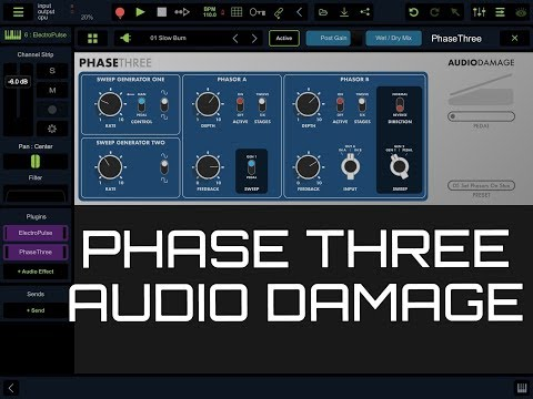 PHASE THREE by Audio Damage - Running as an AUv3 in Stagelight - iPad Demo