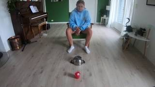 Ping Pong Bouncing On Kitchen Pots And Goes Into The Cup