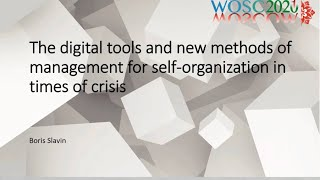 2.4. Electronic democracy and digital self-organisation tools BorisSlavin