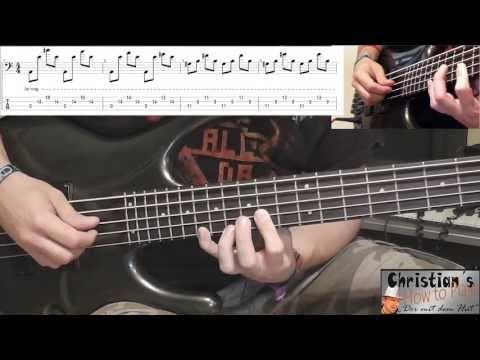 How to Play Rammstein SEEMANN Tabs Noten Bass Lesson Tutorial | Picking HD Deutsch