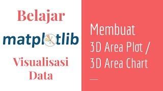 Matplotlib 15 | Belajar 3D Area Plot | 3D Area Chart | Belajar Matplotlib Dasar | Visualisasi Data