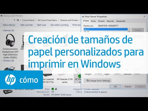 Creación de tamaños de papel personalizados para imprimir en Windows | HP Computers | HP