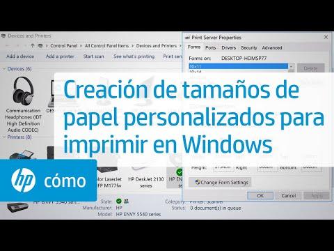 Creación de tamaños de papel personalizados para imprimir en Windows