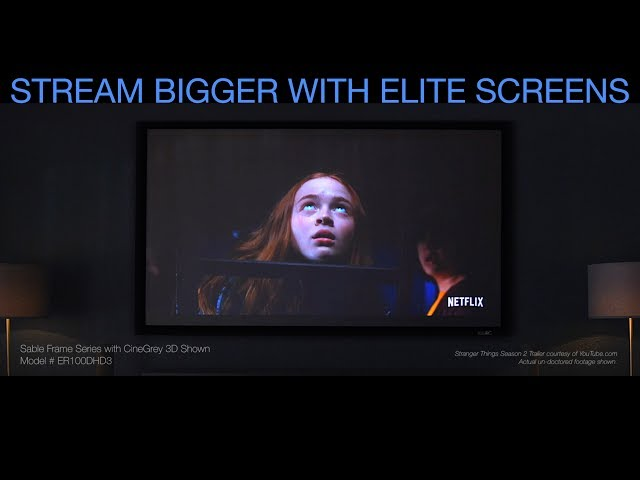 Elite Screens 100 Inch Screen for Streaming - Get a Truly Big Picture