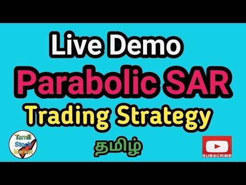 Parabolic SAR Indicator LIVE DEMO In Tamil. how to use Parabolic SAR? tamil stock market