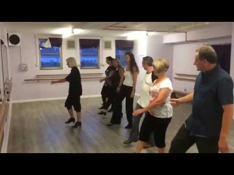 1st lesson in the Adults Beginners Tap Dancing class at Island Dance Academy in Rochester Kent